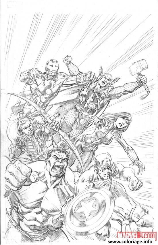 Coloriage Avengers Marvel Dessin Avengers à imprimer