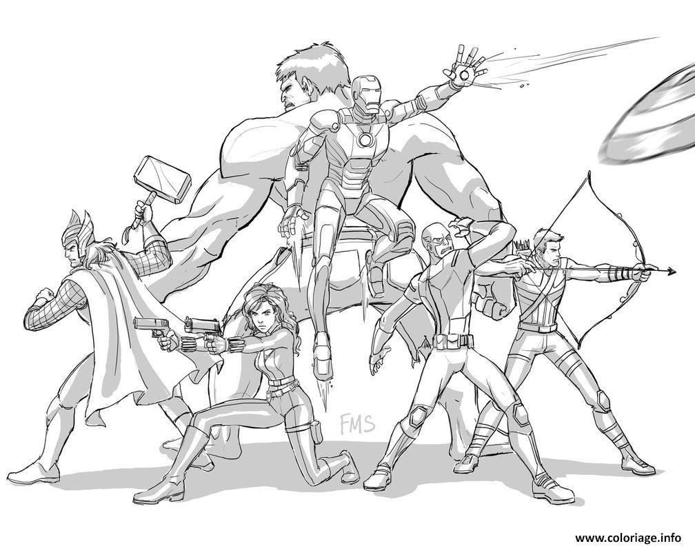 Coloriage Avengers Fan dessin