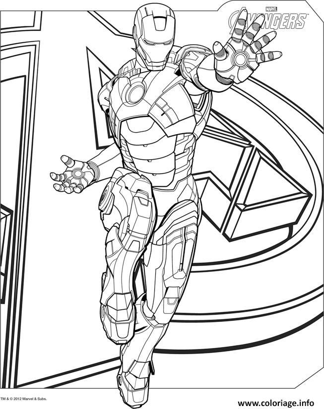 Coloriage Avengers 8 Dessin Avengers à imprimer
