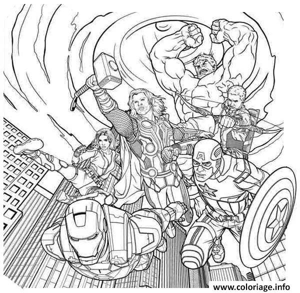Dessin avengers 373 Coloriage Gratuit à Imprimer