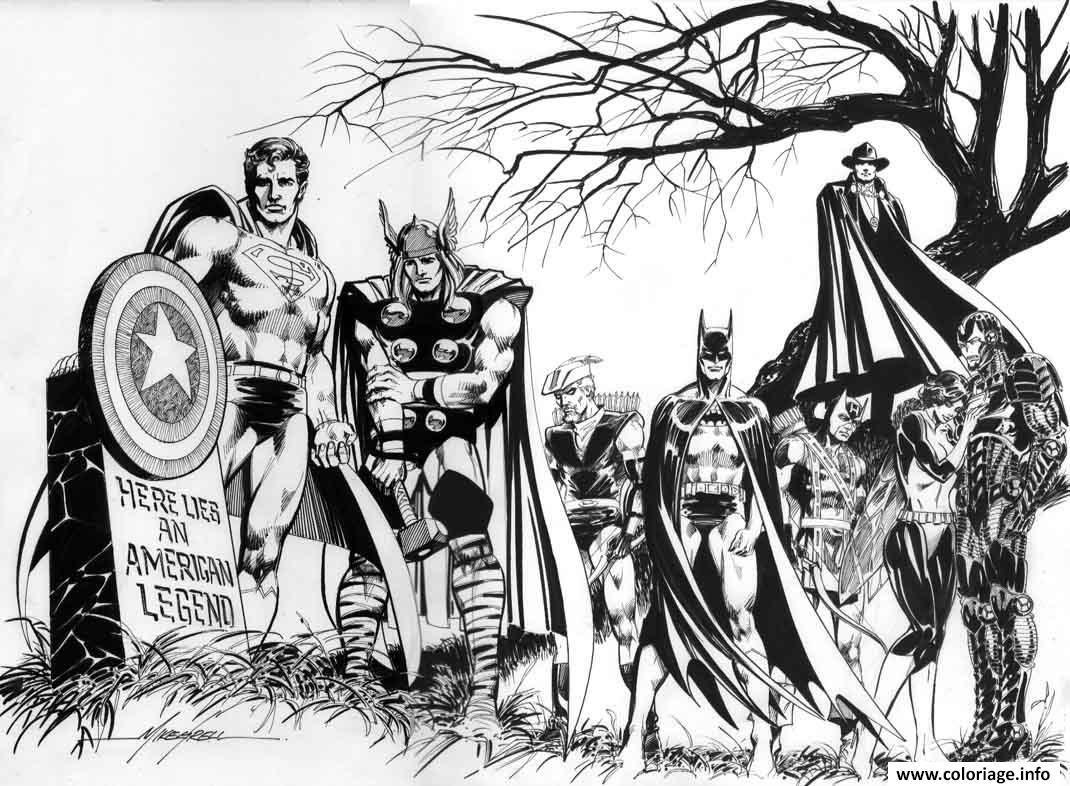 Coloriage Avengers Super Heros Dessin