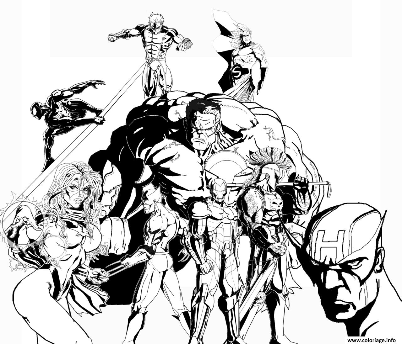 Coloriage avengers 379 - JeColorie.com