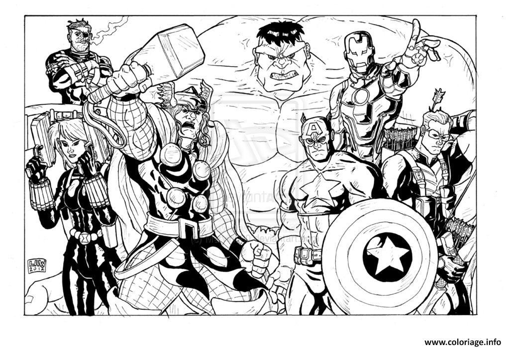 Coloriage Avengers 41 Jecolorie Com