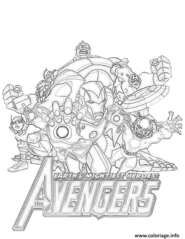 Coloriage Avengers Heroes Jecolorie Com