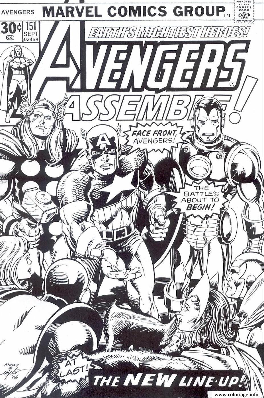 Coloriage avengers marvel comics cover - Comics dessin ...