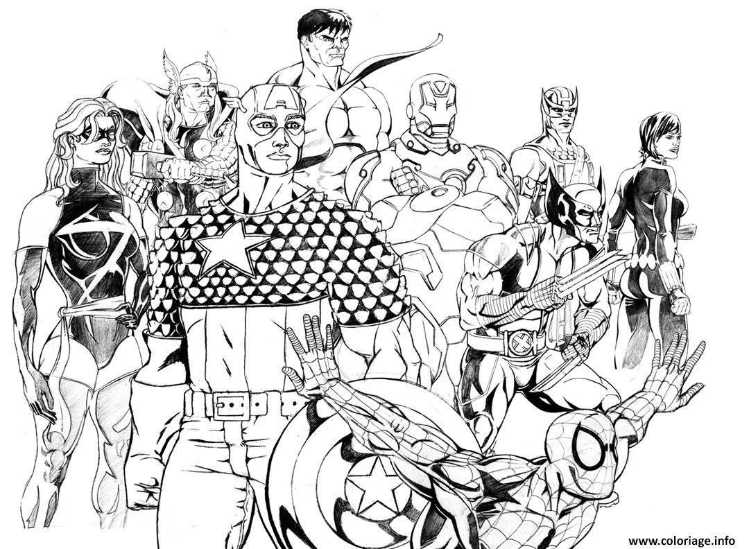 Coloriage Avengers 92 Dessin Avengers A Imprimer