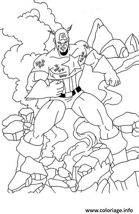 Dessin avengers simple captain america Coloriage Gratuit à Imprimer