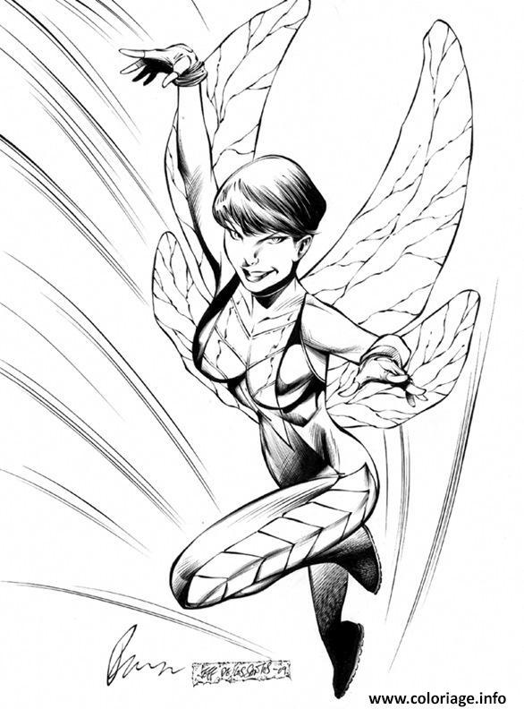 Coloriage Femme De Avenger Dessin