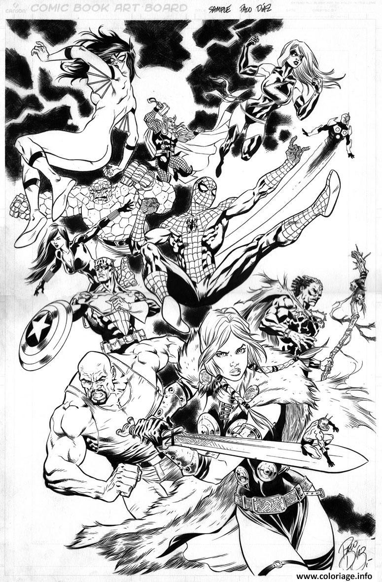 Coloriage Avengers 180 dessin