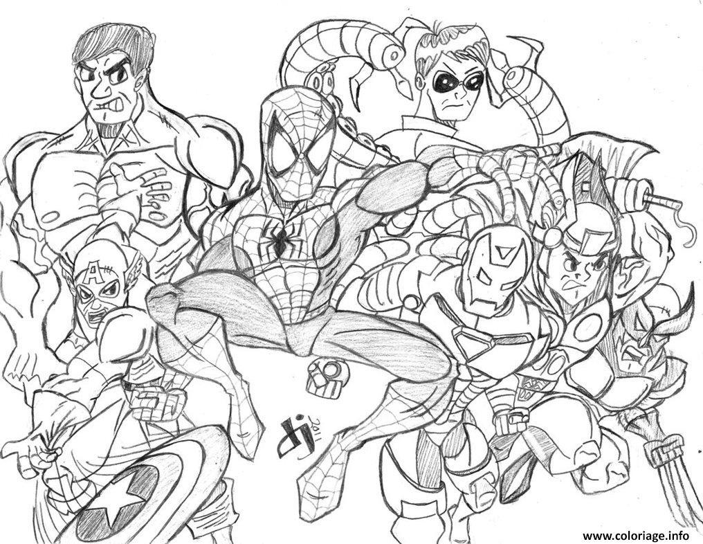 Coloriage Avengers 28 dessin
