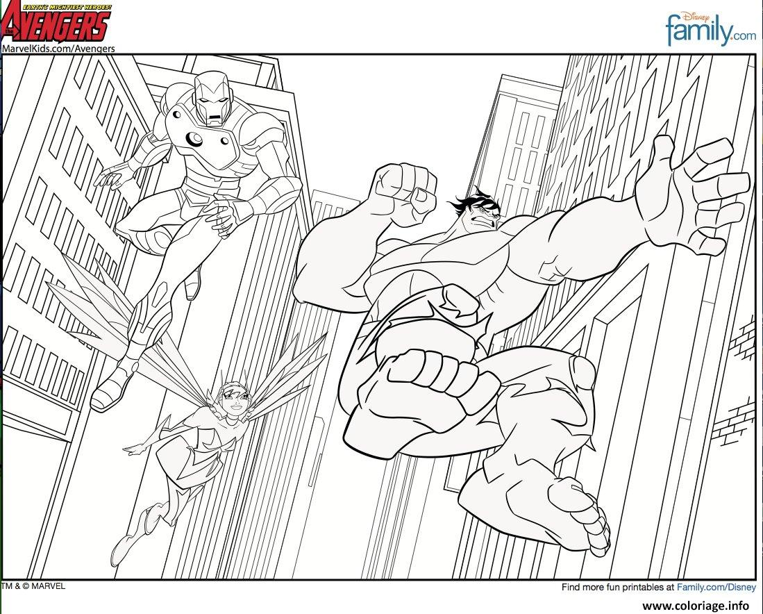 coloriage avengers 19