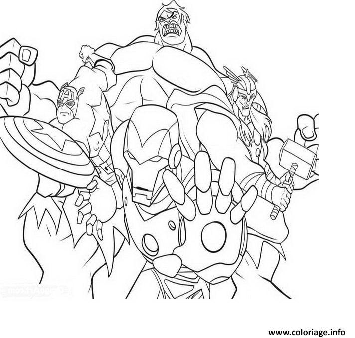 Coloriage avengers equipe dessin - Dessin avenger a imprimer ...