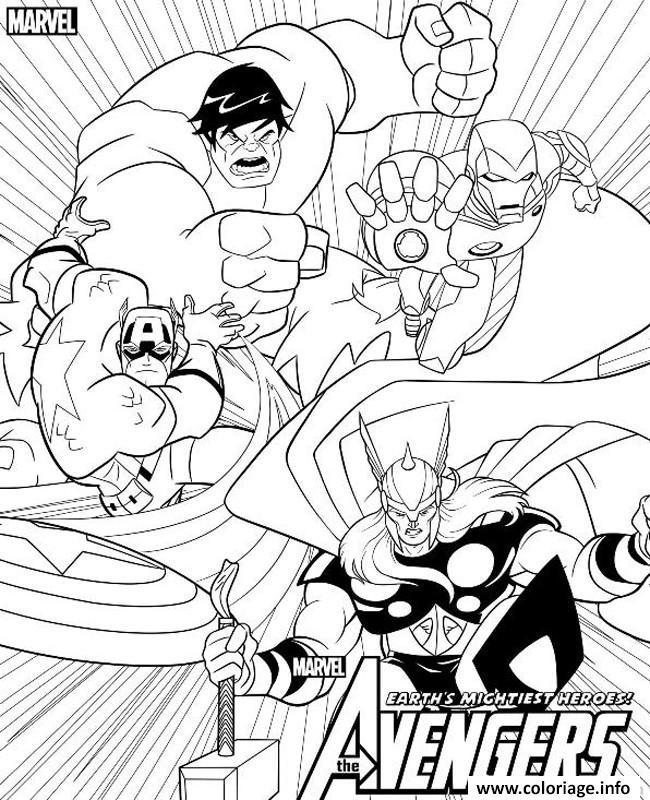 Dessin avengers 5 Coloriage Gratuit à Imprimer