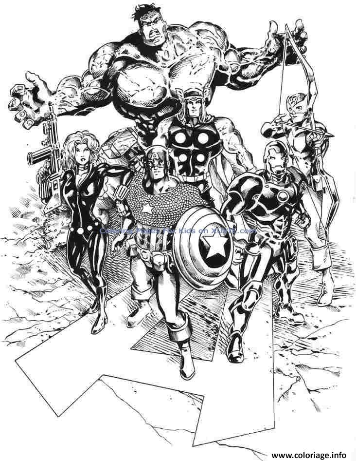 Coloriage avengers 295 - JeColorie.com