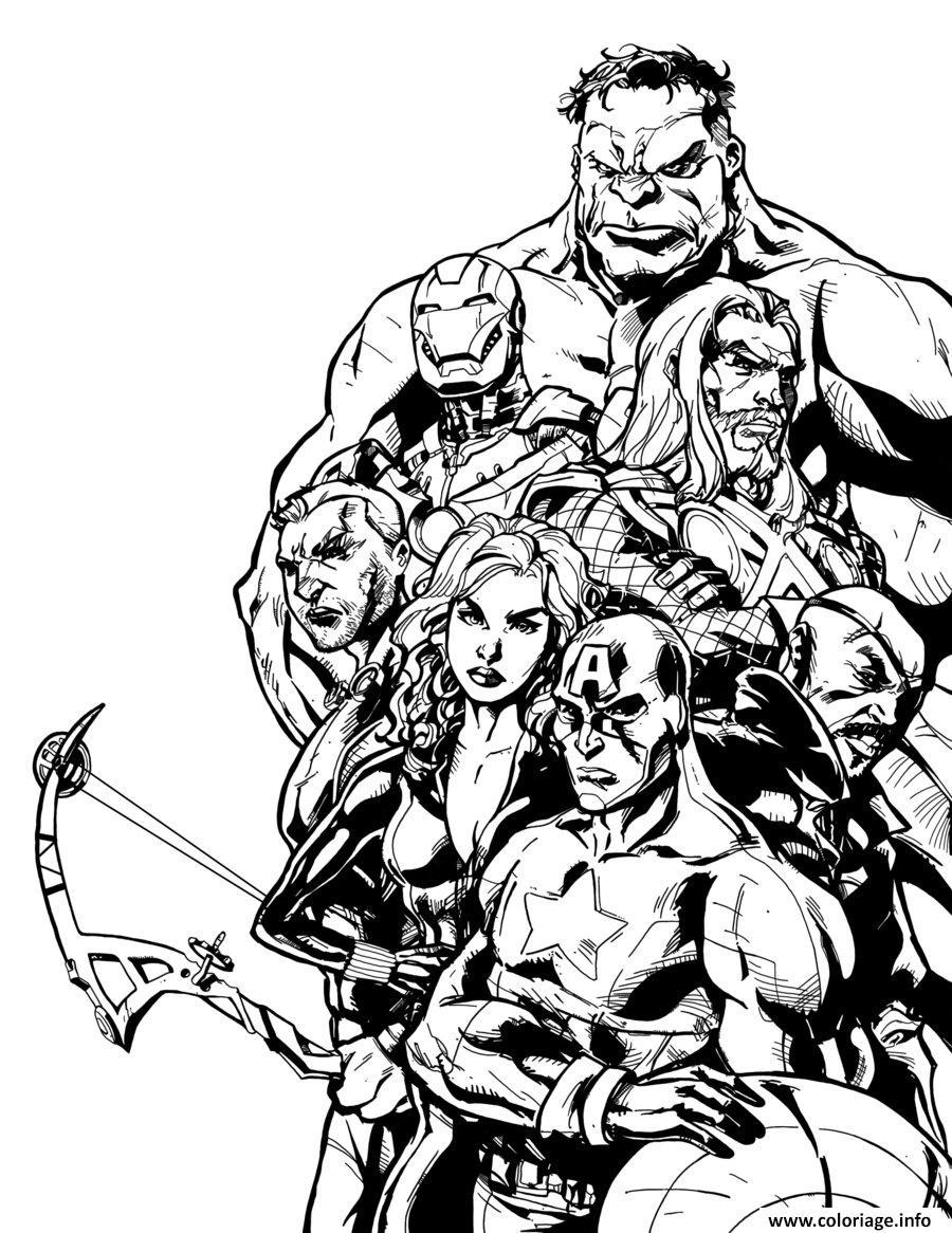 Coloriage Avengers Adulte Difficile dessin