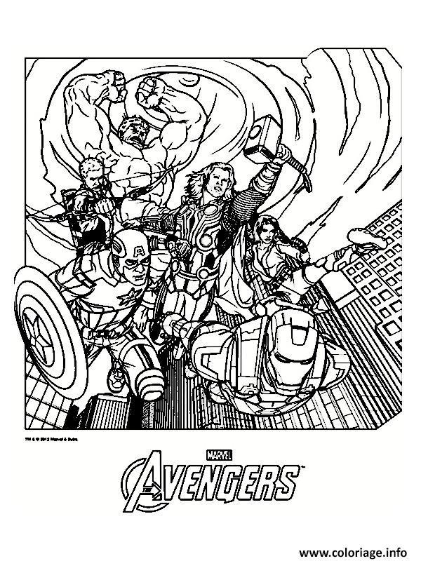 Dessin avengers 4 Coloriage Gratuit à Imprimer