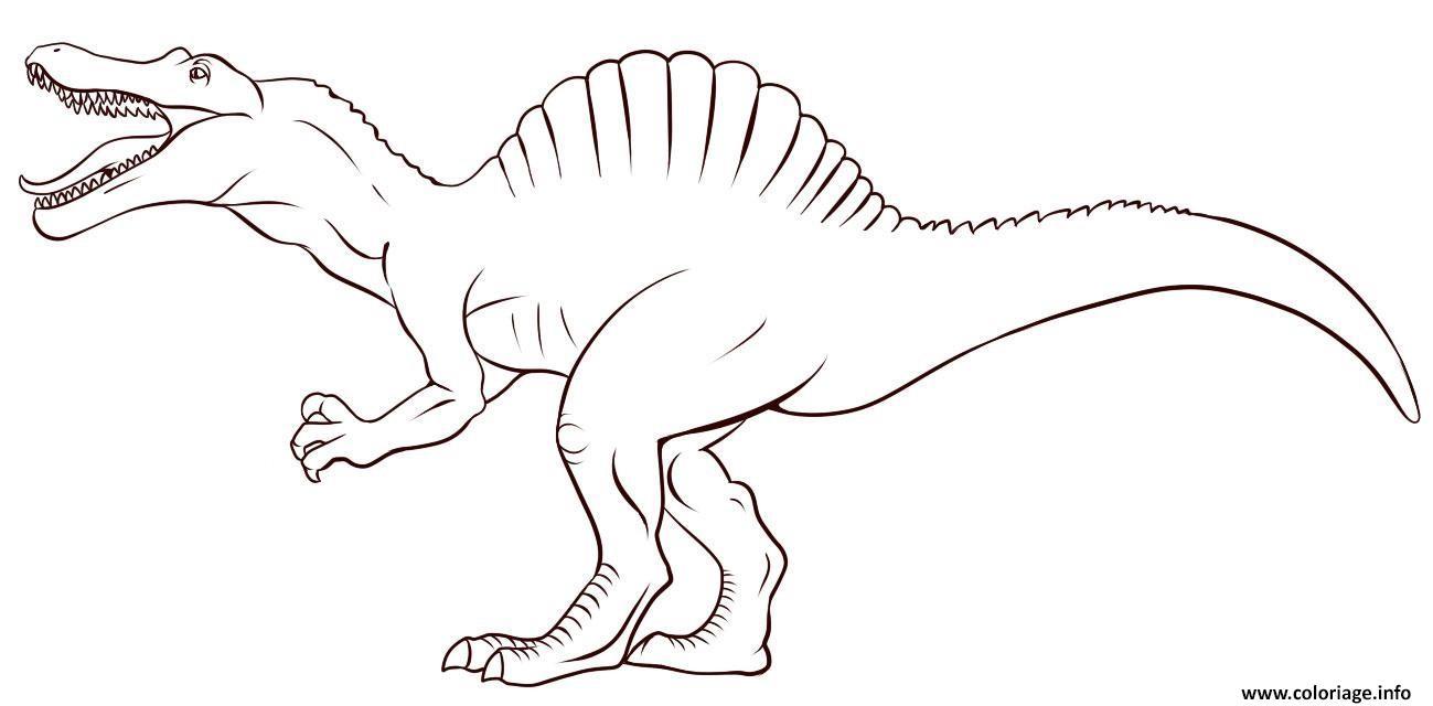 Coloriage Dinosaure Enfant Simple De Jurassic Park Dessin  Imprimer