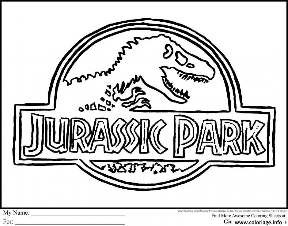 Coloriage logo jurassic park dessin - Jurassic park gratuit ...