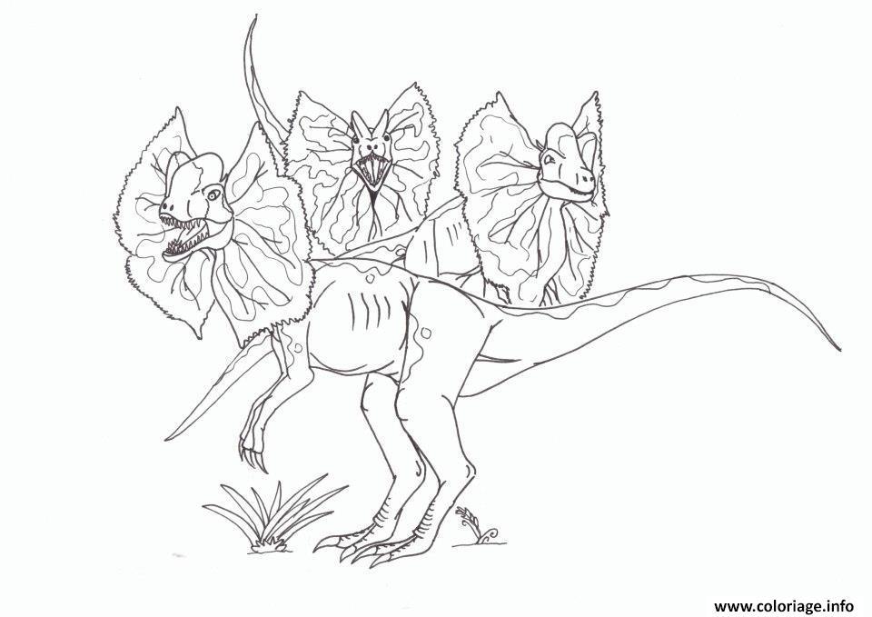 Dessin 3 dinosaures papillons jurassic park 130 Coloriage Gratuit à Imprimer