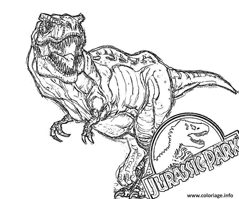 Coloriage Jurassic Park Officiel Dessin Jurassic World ...