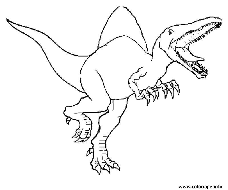 Dessin spinosaurus jurassic park 31 Coloriage Gratuit à Imprimer