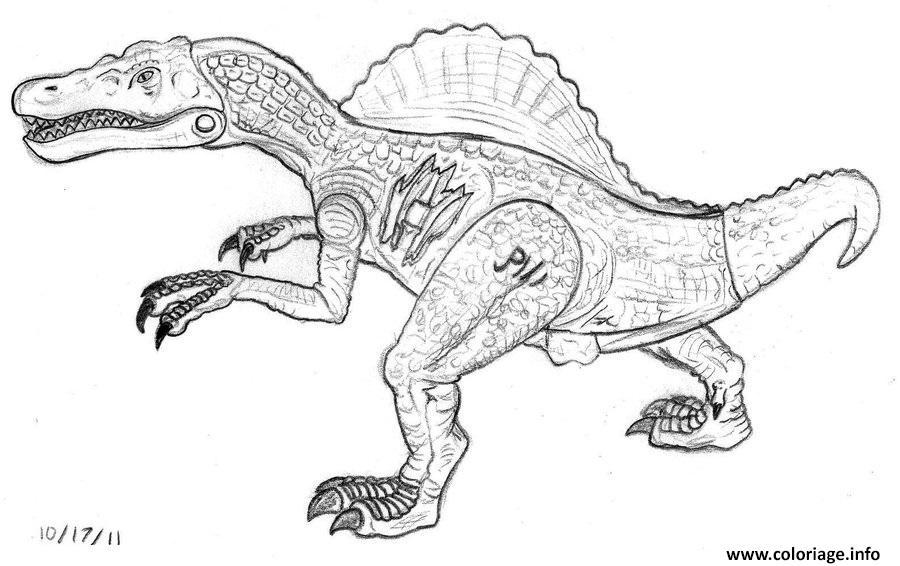 Dessin spinosaurus jurassic park Coloriage Gratuit à Imprimer