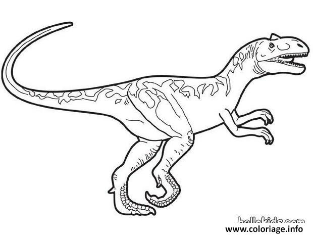 Coloriage World Raptor Dinosaure Dessin
