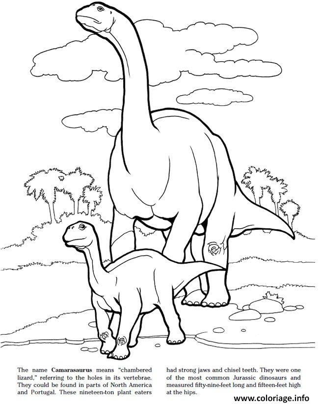 Coloriage camarasaurus jurassic park - Jurassic park gratuit ...