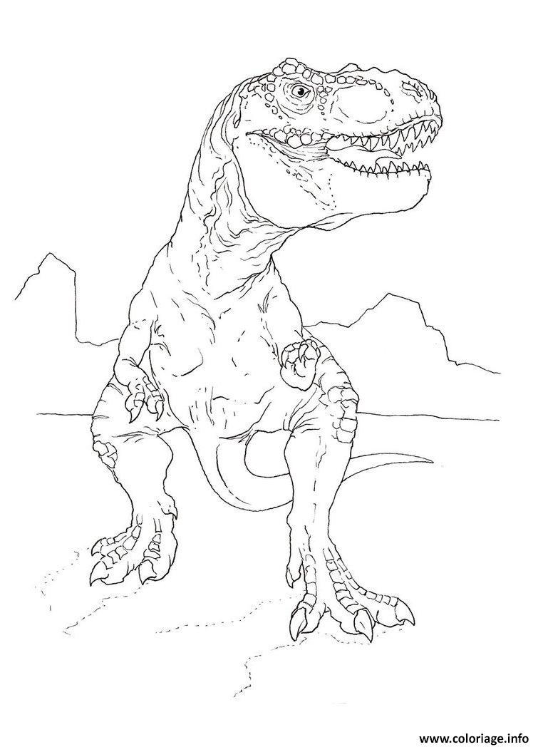 Coloriage jurassic park indominus rex dessin - Dinosaure film gratuit ...