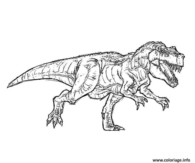 Coloriage Indominus Rex Jurassic Park 11 Dessin