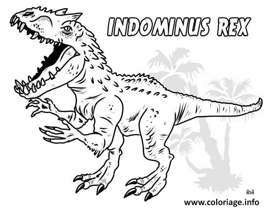 Coloriage Jurassic World Park A Imprimer