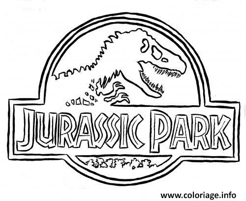 Coloriage jurassic park logo dessin - Dinosaure film gratuit ...