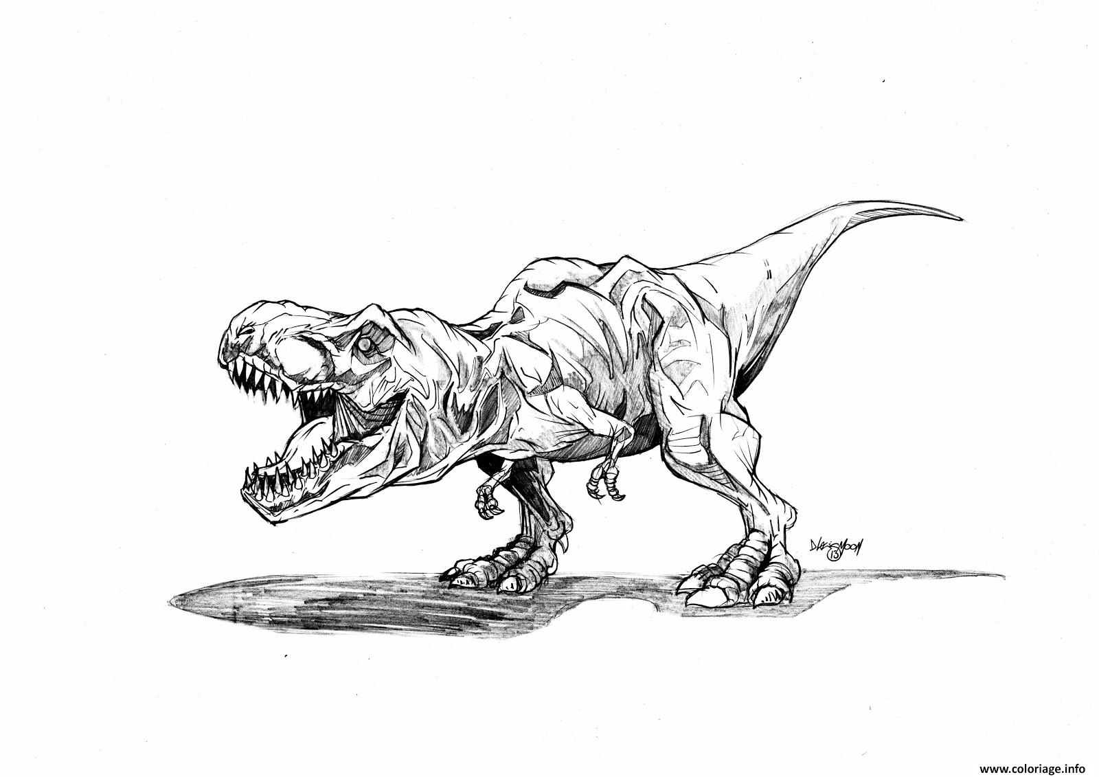 Coloriage Magique Jurassic World.Coloriage Jurassic Park Trex Dessin