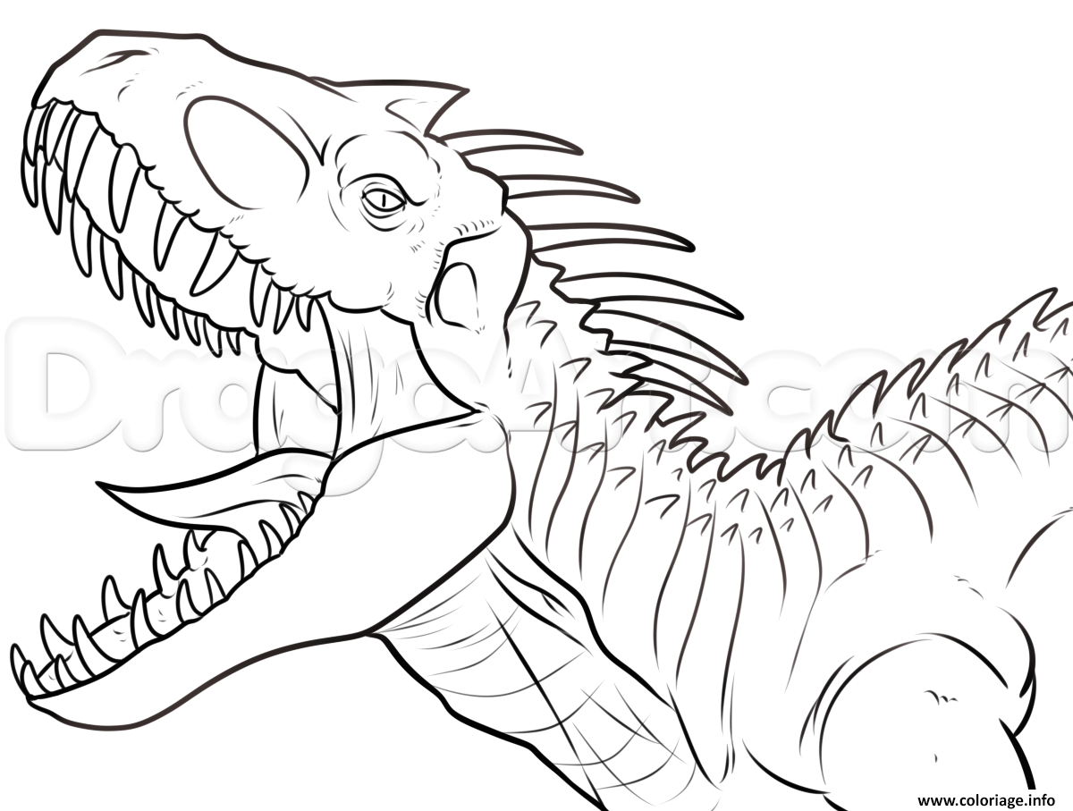 Coloriage Jurassic World Mosasaurus.Coloriage Jurassic World Park A Imprimer