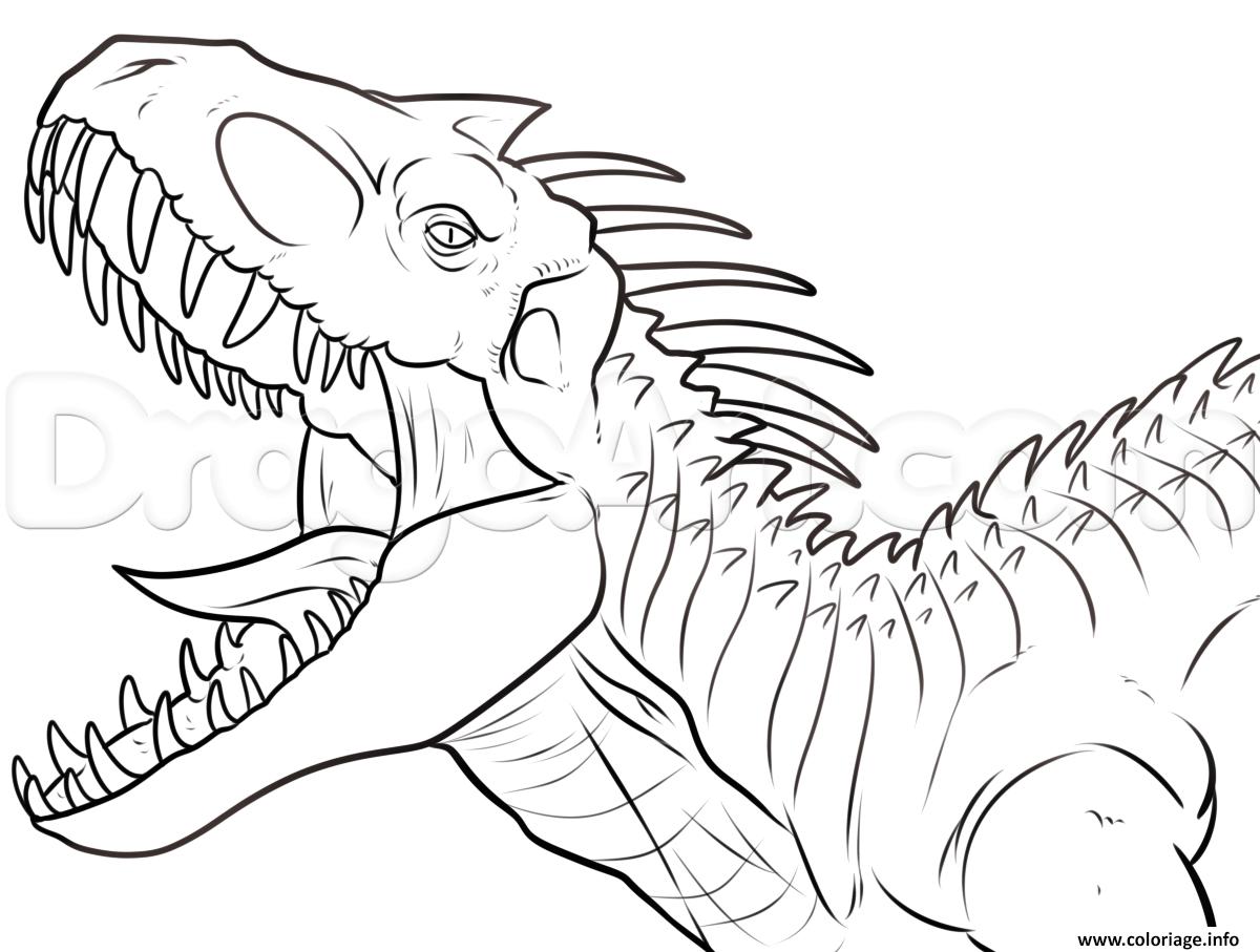 Coloriage Indominus Rex Jurassic Park Dinosaure dessin