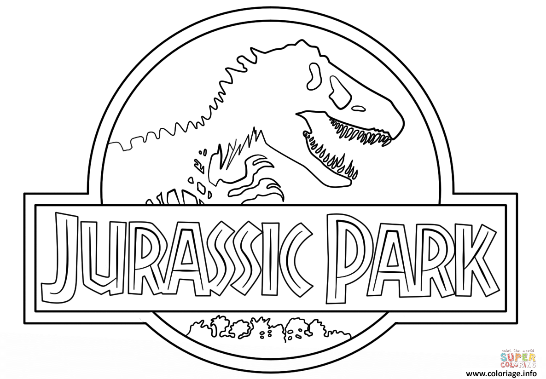 Coloriage logo jurassic park clean - Jurassic park gratuit ...