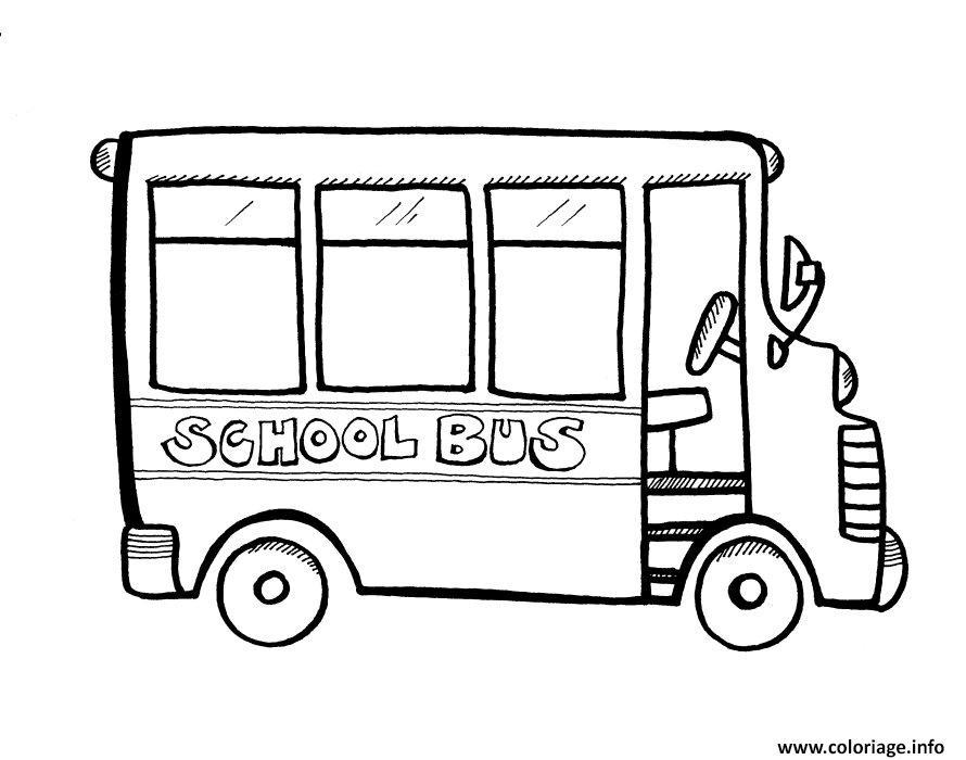 Coloriage bus scolaire vide - Autobus scolaire dessin ...