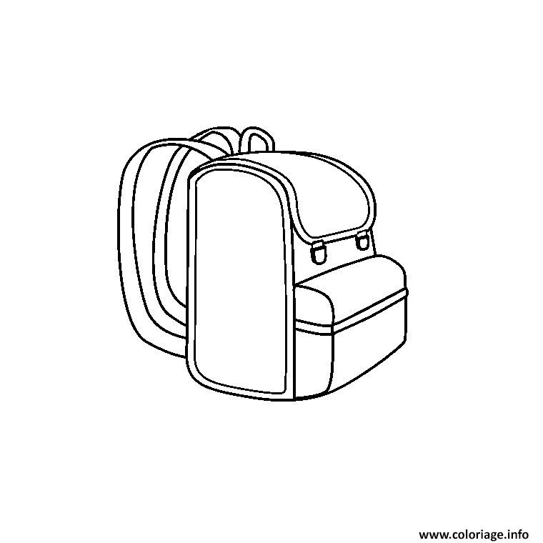 Coloriage ecole cartable dessin - Cartable dessin ...