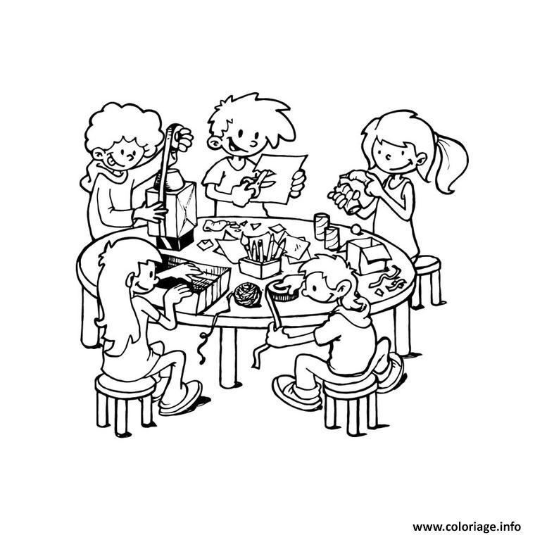 Coloriage Rentree Maternelle Bricolage Enfants Dessin