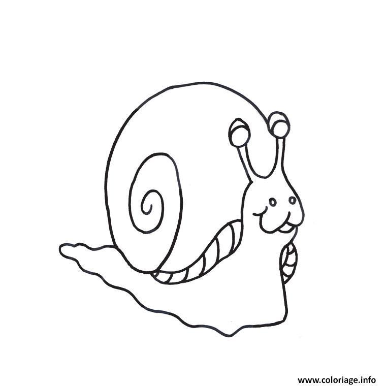 Dessin escargot maternelle Coloriage Gratuit à Imprimer