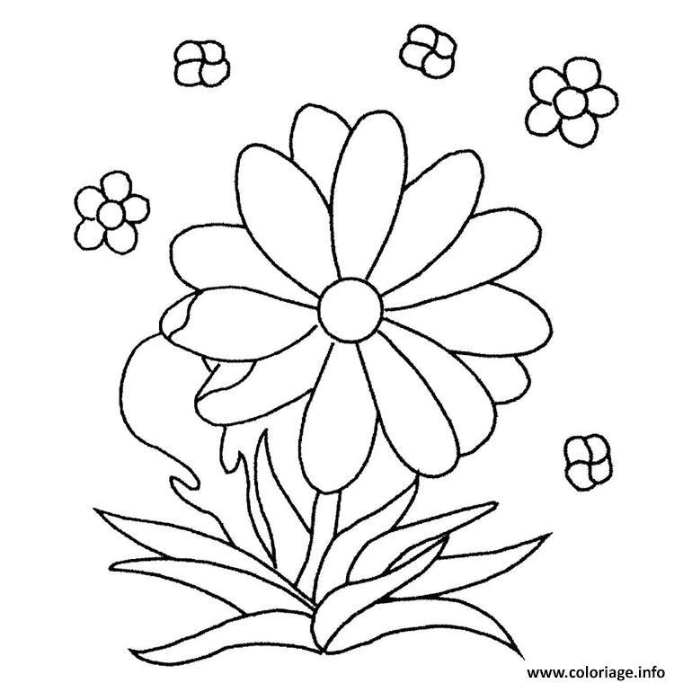 Coloriage Fleur Maternelle Dessin à Imprimer