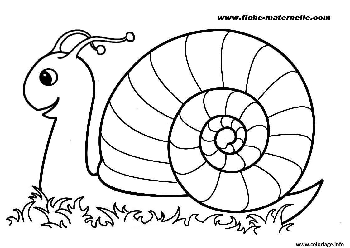 rentree maternelle escargot coloriage