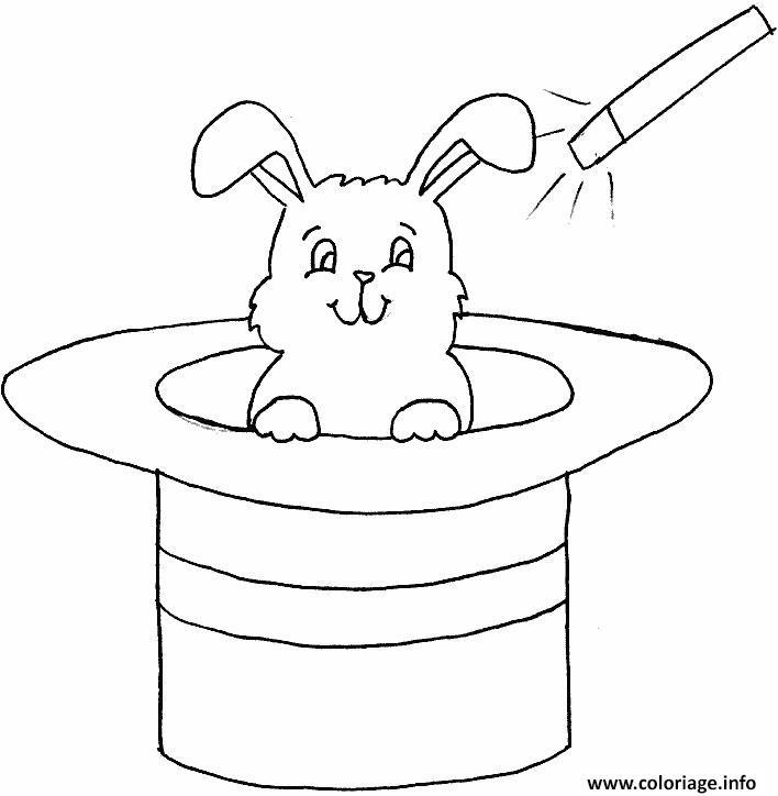 Coloriage lapin magique maternelle - Coloriage a imprimer lapin ...