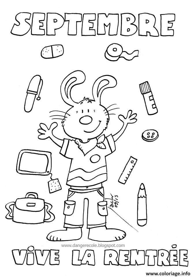 Coloriage rentree maternelle 69 dessin - Dessin classe ...
