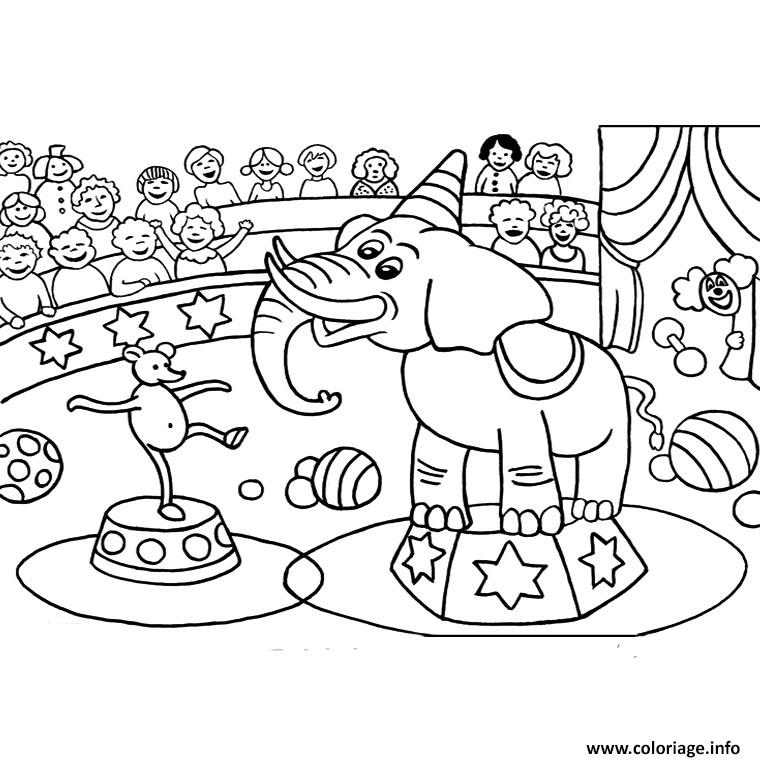 Coloriage cirque maternelle dessin - Dessin de cirque ...