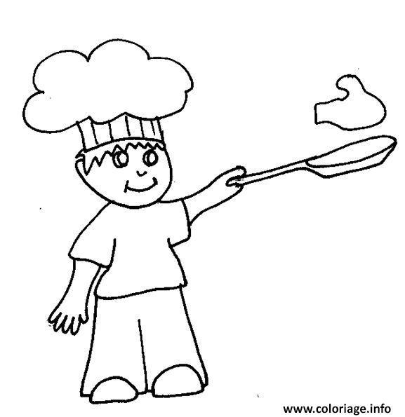 Dessin rentree maternelle cuisinier Coloriage Gratuit à Imprimer