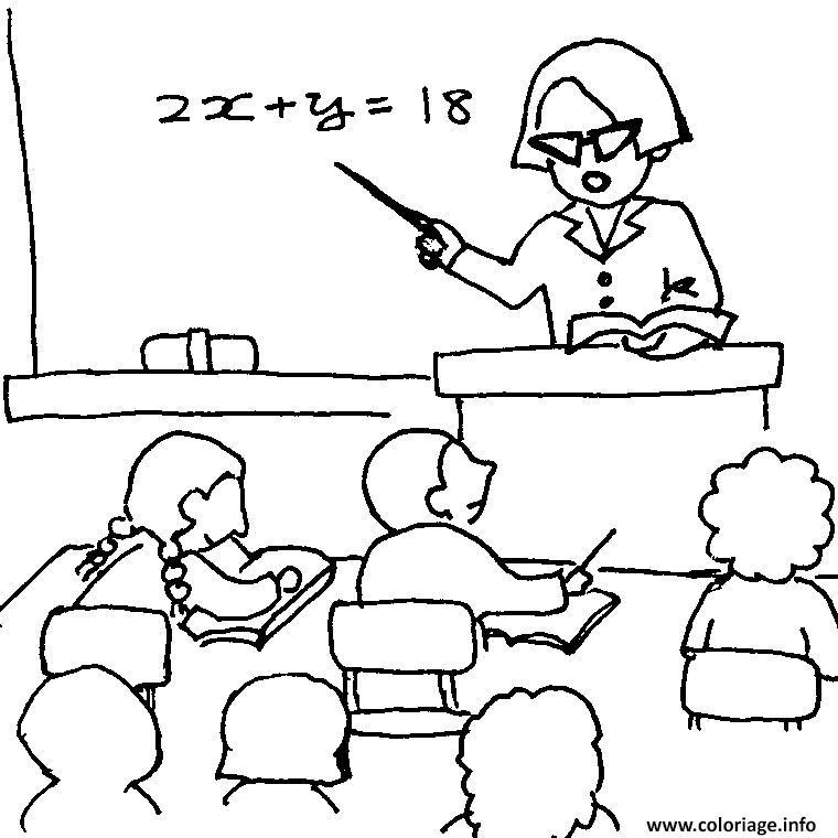 Coloriage classe maternelle dessin - Coloriage classe maternelle ...