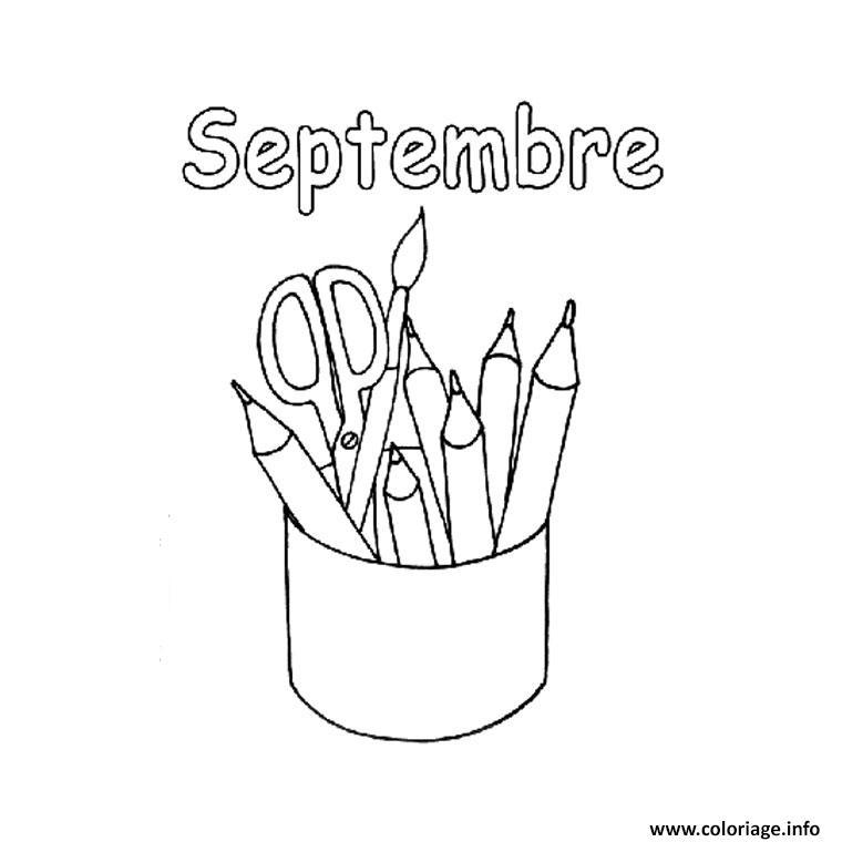 Coloriage Rentree Maternelle Septembre Jecolorie Com