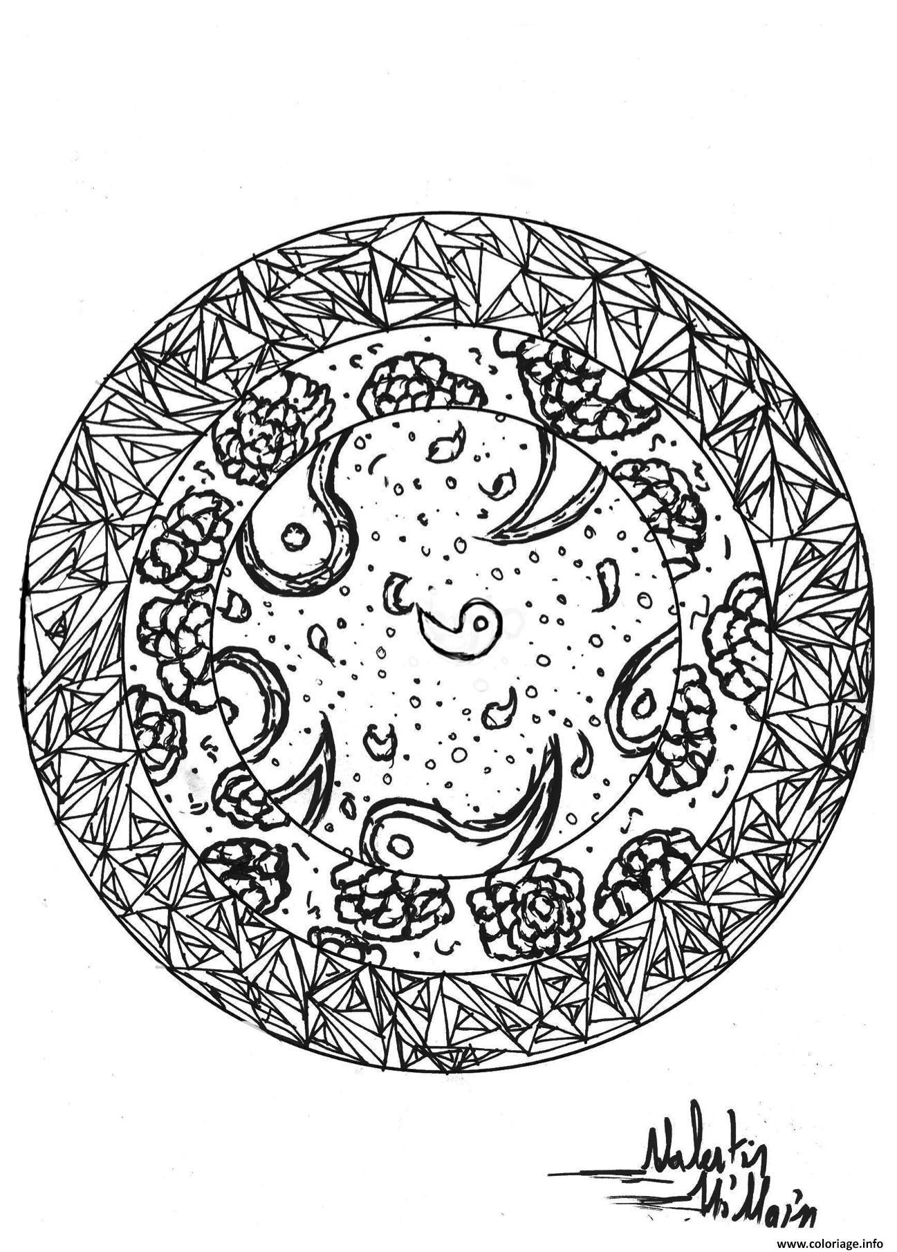 Dessin adulte dessin Cercle par valentin Coloriage Gratuit à Imprimer