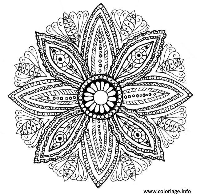 Coloriage mandala feuilles dessin - Image mandala a imprimer ...